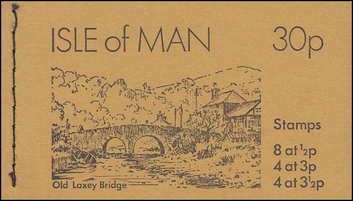 Isle of Man Markenheftchen 0-5, Ansichten 30 Pence 1974, ** postfrisch