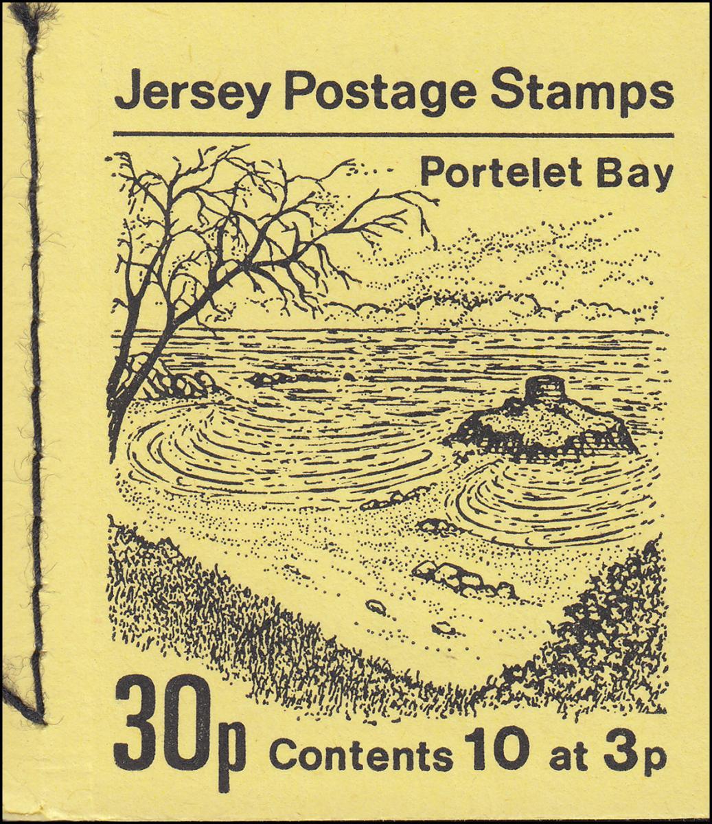Jersey Markenheftchen 0-8, Portelet Bay **