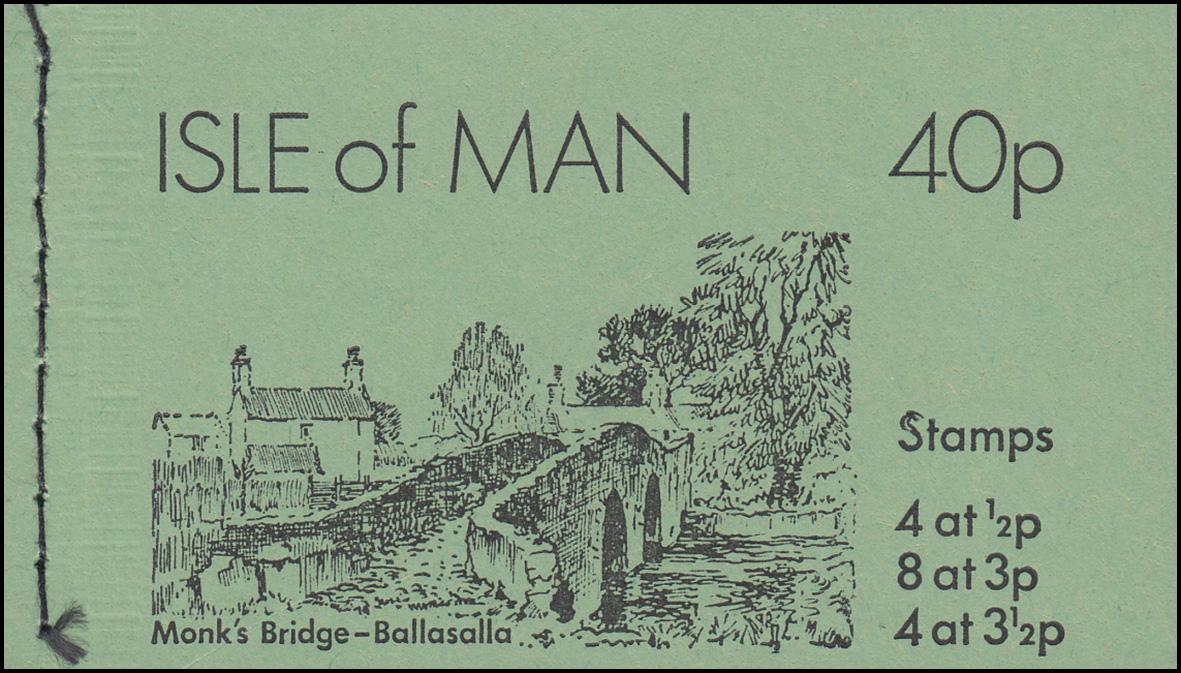Isle of Man Markenheftchen 0-6, Ansichten 40 Pence 1974, ** postfrisch