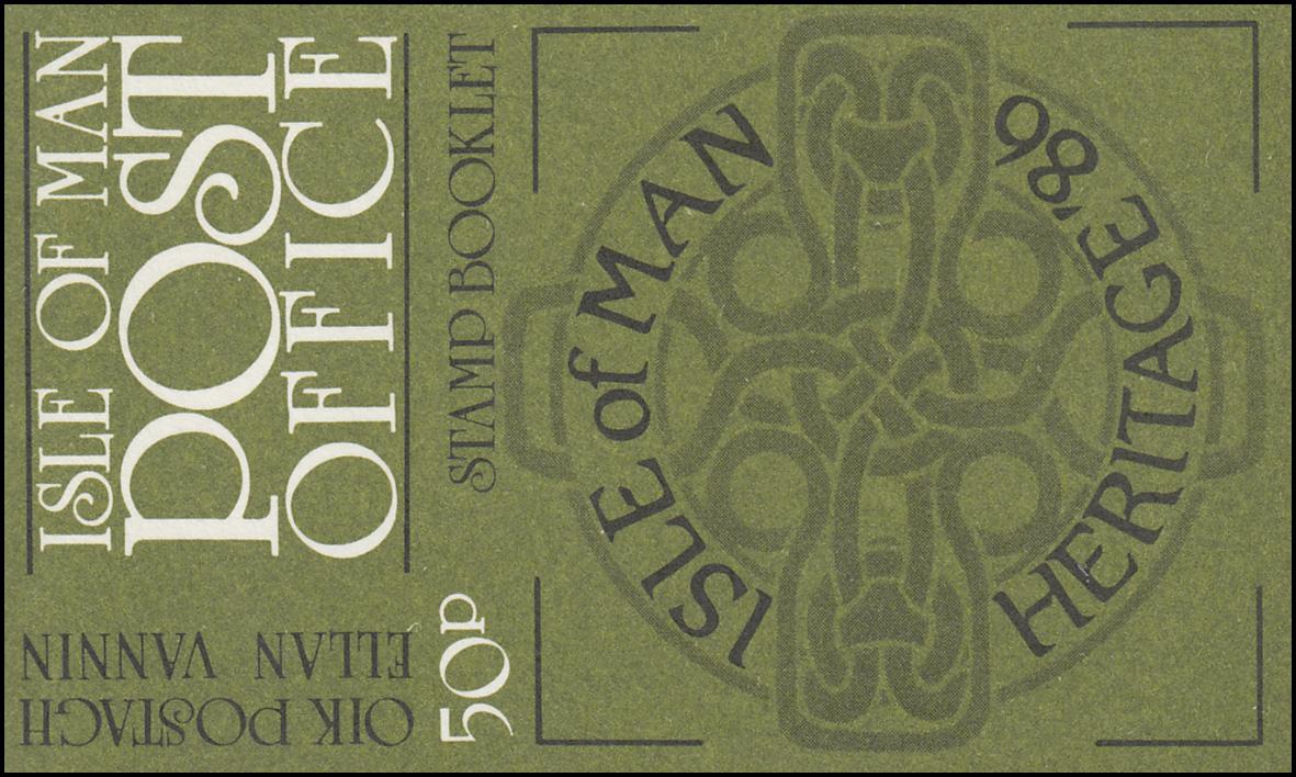 Isle of Man Markenheftchen 10, Freimarken Kulturerbe 50 Pence 1986, **