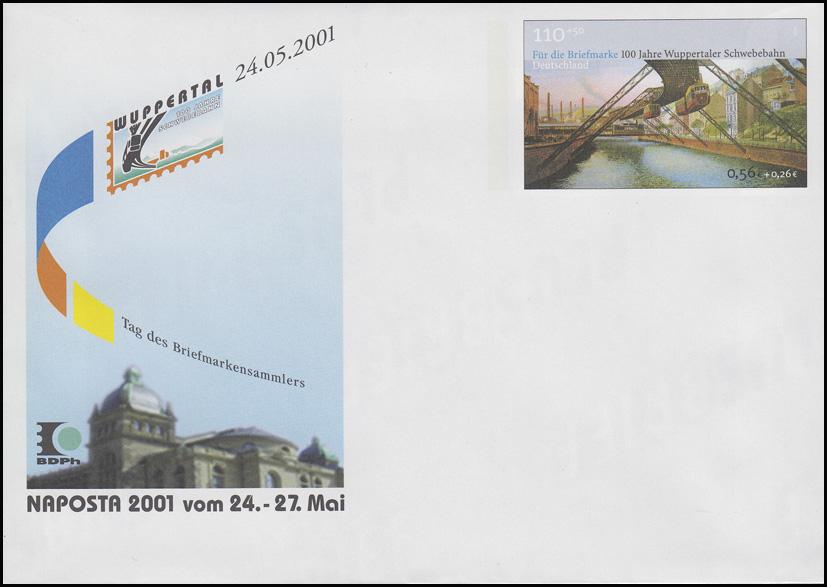 USo 28 NAPOSTA & Wuppertaler Schwebebahn 2001, postfrisch
