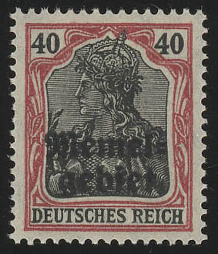 Memel 6 Aufdruck Germania 40 Pf. 1920, ** postfrisch