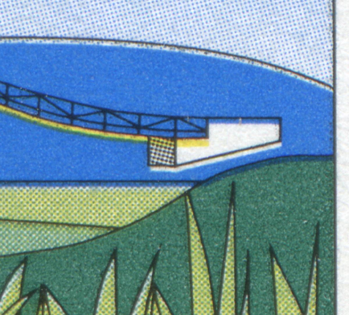 1630PV Main-Donau-Kanal mit Passerverschiebung Blau und Gelb nach unten, **