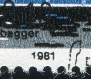 2656 Binnenschiffe 85 Pf. mit PLF unten verkürzte 1 bei der 1981, Feld 25, ESSt