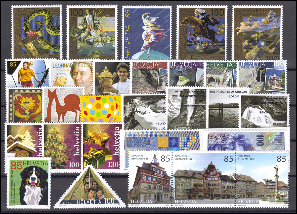 1994-2042 Schweiz-Jahrgang 2007 komplett, postfrisch
