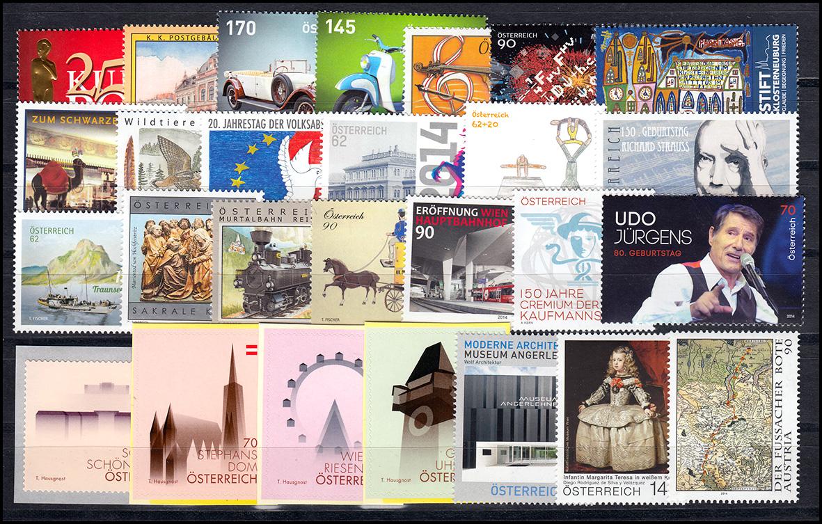 3115-3176 Österreich-Jahrgang 2014 komplett, postfrisch **