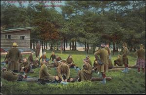 Ansichtskarte Kriegsgefangene im Sennelager 1914/15 - Schottländer, ungebraucht