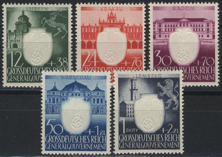 105-109 3 Jahre NSDAP im Generalgouvernement, Satz ** postfrisch
