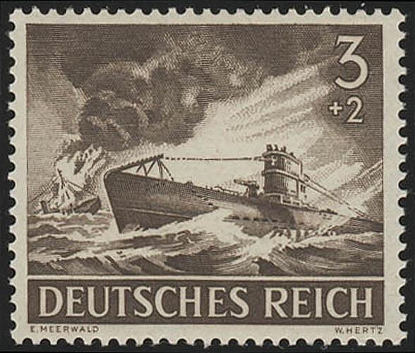 831x Tag der Wehrmacht / Heldengedenktag U-Boot 3 Pf **