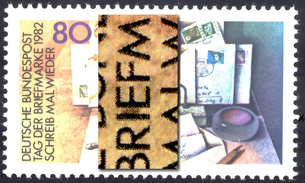 1154I Tag der Briefmarke mit PLF I ausgefranstes F in BRIEFMARKE, Feld 42 **