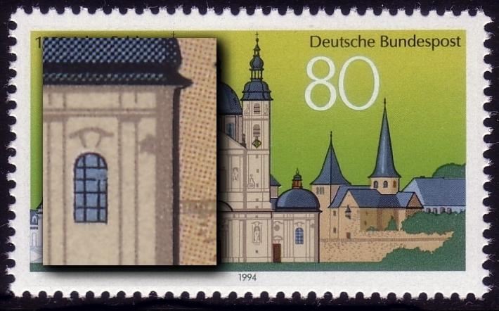 1722I Fulda, Fensterbruch und Fleck daneben, Feld 34 **