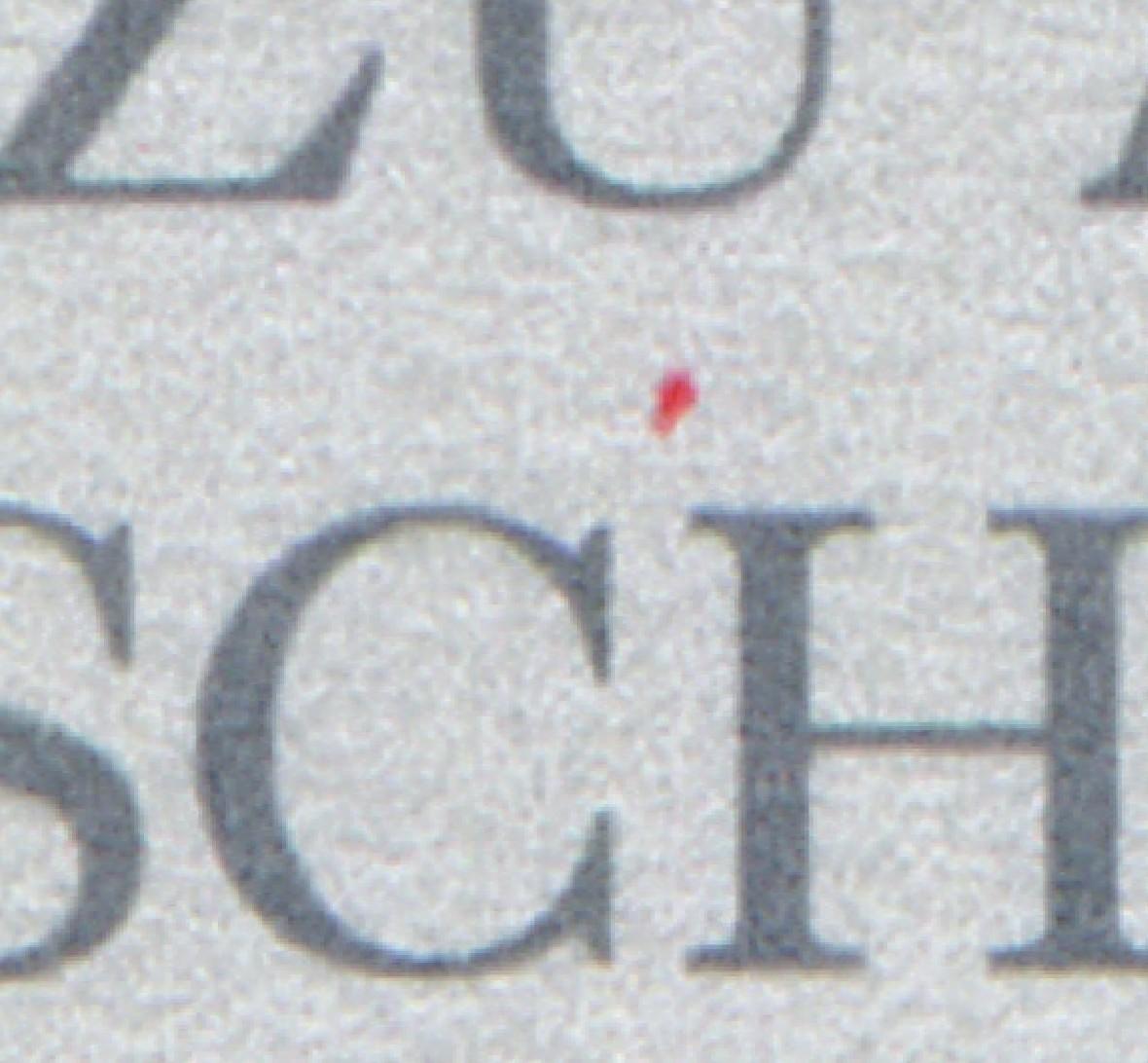 Block 48 Grundgesetz 1999 mit PLF roter Strich über CH von SCHÜTZEN, ESSt BERLIN