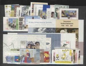2578-2636 Deutschland Bund-Jahrgang 2007 komplett, postfrisch **