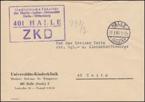 ZKD-Brief Medizinische Fakultät Martin-Luther Uni Halle-Wittenberg HALLE 22.7.65