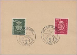 121-122 Bach-Satz auf Vorlage mit SSt DÜSSELDORF Funkausstellung 20.8.1950