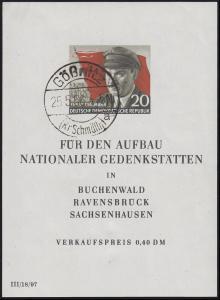 Block 14 Ernst Thälmann mit Ersttagsstempel 25.5.56