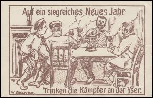 Propaganda-Feldpost-AK Kgl.Preuss. Landwehr-Inf.-Rgt. 73 vom 20.1.15 n. Hannover
