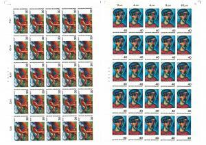 798-799 Impressionismus, 2 komplette 25er-Bögen, Bogen-Satz - mit 2 PLF **