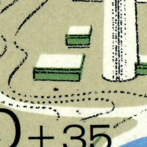 Block 7I Olympiapark: Fleck links vom Fernsehturm und Punkt rechts im Stadion **