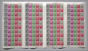 MHB 5X Heuss/1 Pf 1958, Wasserzeichen X, postfrisch **