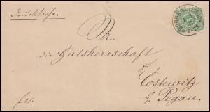 39 Ziffer 3 Pfennig EF Drucksache BORNA (BZ.LEIPZIG) 7.3.87 nach Costewitz/Pegau