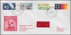 MARINESCHIFFSPOST 56 - 4.2.86 Schulschiff Deutschland in New York Express-Brief