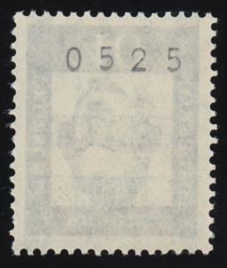 207 Lessing 40 Pf. mit vierstelliger ungerader Nummer, typische Rollenzähung **