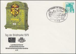 PU 110/60 BuS 40 Pf SW-LV-Tagung Briefkasten T.d.B. SSt DETTINGEN 4.11.1979