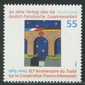 2311II Deutsch-französiche Zusammenarbeit mit Rastertype II, **