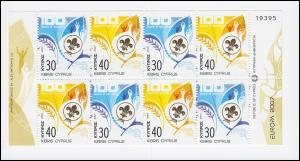 Zypern (griechisch) Markenheftchen 9 Europa / Cept 2007, postfrisch **