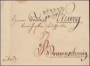 Preußen Vorphilatelie Brief Zweizeiler BERLIN 18.6.1826 nach Braunschweig