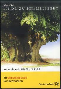 45 MH Linde zu Himmelsberg SELBSTKLEBEND, Maxi-Set mit 20 Marken, postfrisch **