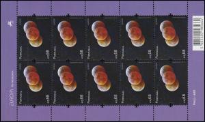 3407I EUROPA Astronomie - Phasen der Mondfinsternis 2009, Kleinbogen **