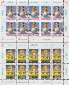 2693-2494 EUROPA Ferien in Monte-Carlo 2004, Kleinbogen-Satz **