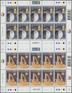 1594-1595 EUROPA Astronomie 2009, Kleinbogen-Satz **