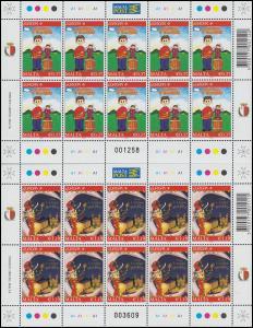 1642-1643 EUROPA Kinderbücher 2010, Kleinbogen-Satz **