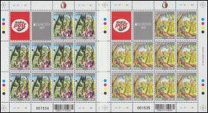 1665-1666 EUROPA Der Wald - Pflanzen des Waldes 2011, Kleinbogen-Satz **