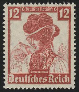 593 Nothilfe Volkstrachten Schwarzwald 12 Pf **