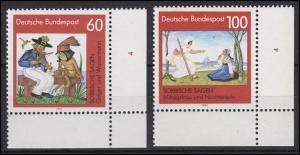 1576-1577 Sorbische Sagen 1991 - alle Ecken mit Formnummer 4, Satz **