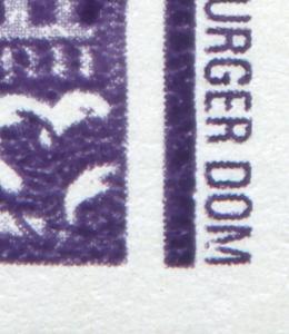 3351I Magdeburger Dom, 6er-Block mit PLF I beschädigtes M - ** postfrisch