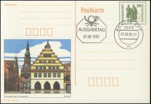 P 109/1 Goethe/Schiller: Greifswald 1990 30 Pf, VS-O Berlin ZPF 7.8.90