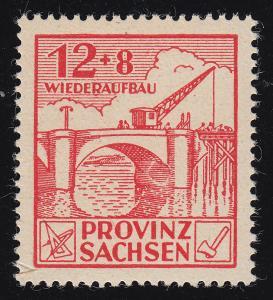 88AII Wiederaufbau 12 Pf. mit PLF II geflicktes Loch im Brückenbogen, Feld 18 **