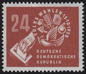 275 Volkswahlen 1950, postfrische Marke **