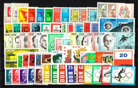 934-1003 DDR-Jahrgang 1963 komplett, postfrisch ** / MNH 0