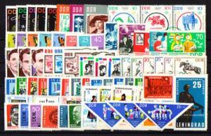 1004-1083 DDR-Jahrgang 1964 komplett, postfrisch ** / MNH