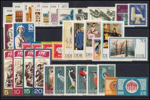 1245-1334 DDR-Jahrgang 1967 komplett, postfrisch ** / MNH
