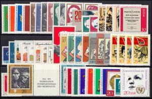 1632-1730 DDR-Jahrgang 1971 komplett, postfrisch ** / MNH