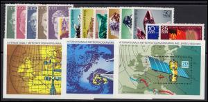 1731-1814 DDR-Jahrgang 1972 komplett, postfrisch ** / MNH