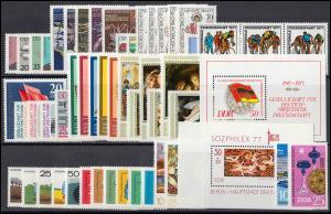 2199-2286 DDR-Jahrgang 1977 komplett, postfrisch ** / MNH