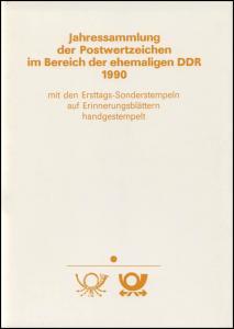 amtliche Jahressammlung DDR 1990 mit ESSt